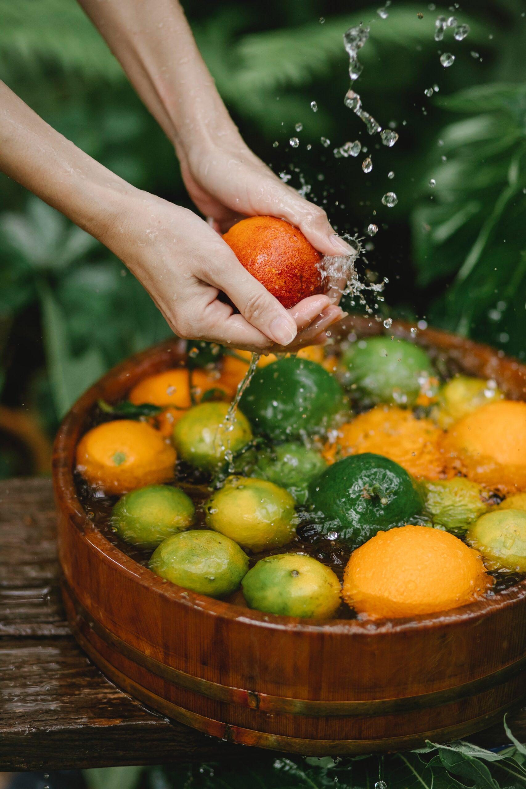 شستشوی مواد غذایی